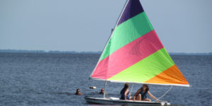 Sailing at eastern 4-H center
