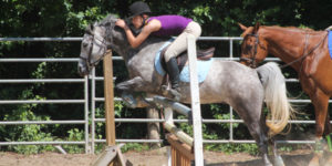 horseback riding at millstone 4-H camp