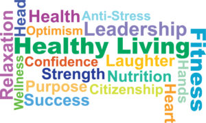 Healthy Living word cloud