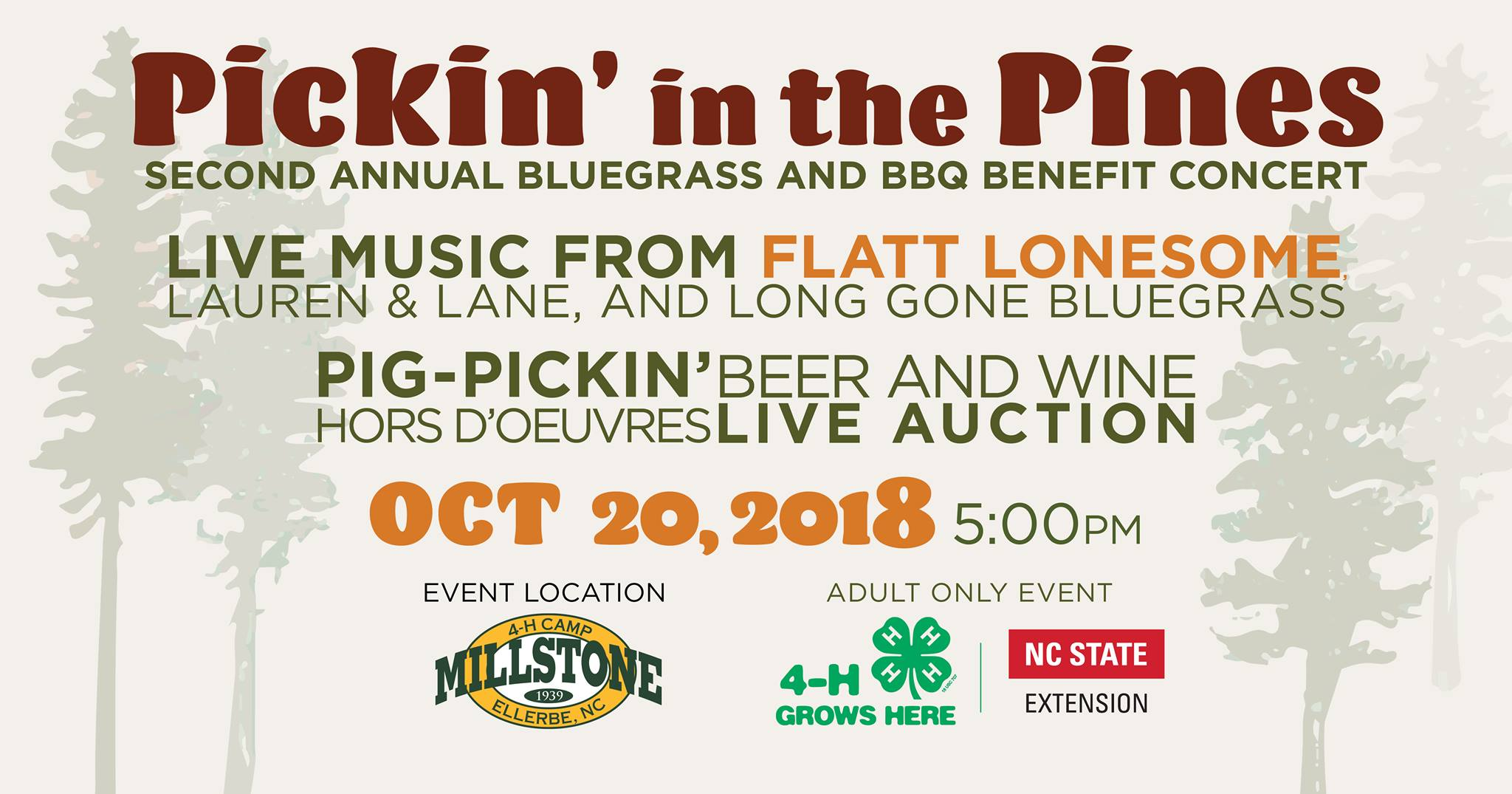 Pickin' in the Pines flyer image