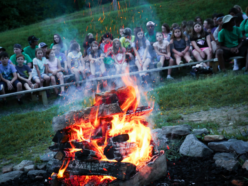 Campfire at Betsy-Jeff Penn 4-H Educational Center