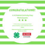 Congratulations 4-H'ers!