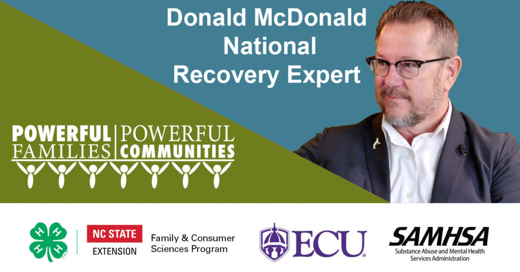 Donald McDonald, National Recovery Expert