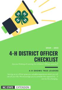 4-H District Officer Checklist
