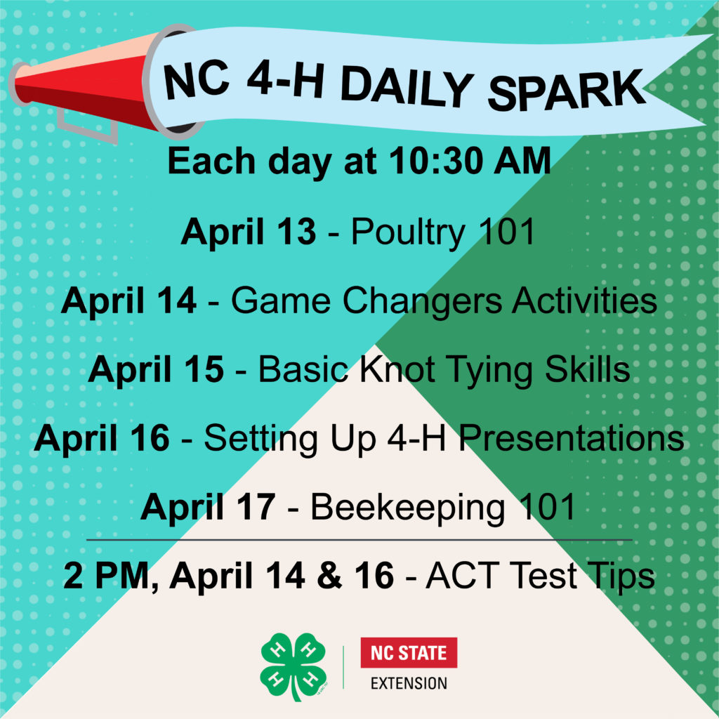 NC 4-H Daily Spark Week 4