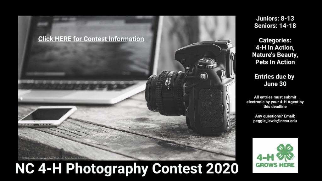 NC 4-H Photo Contest