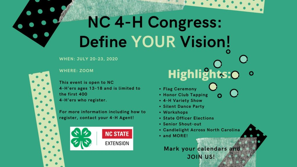 Description for NC 4-H Congress