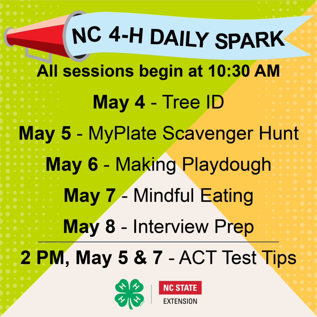 NC 4-H Daily SPARK Week 7