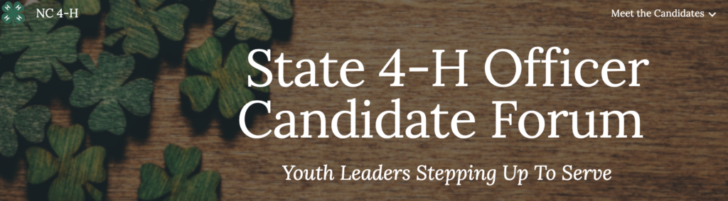 State Officer Candidate Website