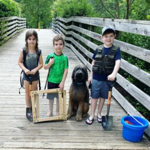 Kids ready for camping
