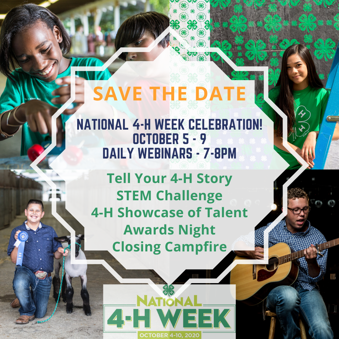 National 4-H Week Save the Date Image