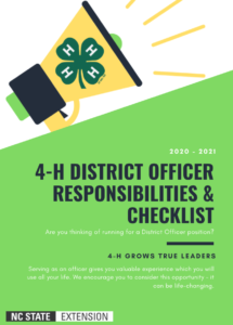 4-H District Offices Responsibilities & Checklist