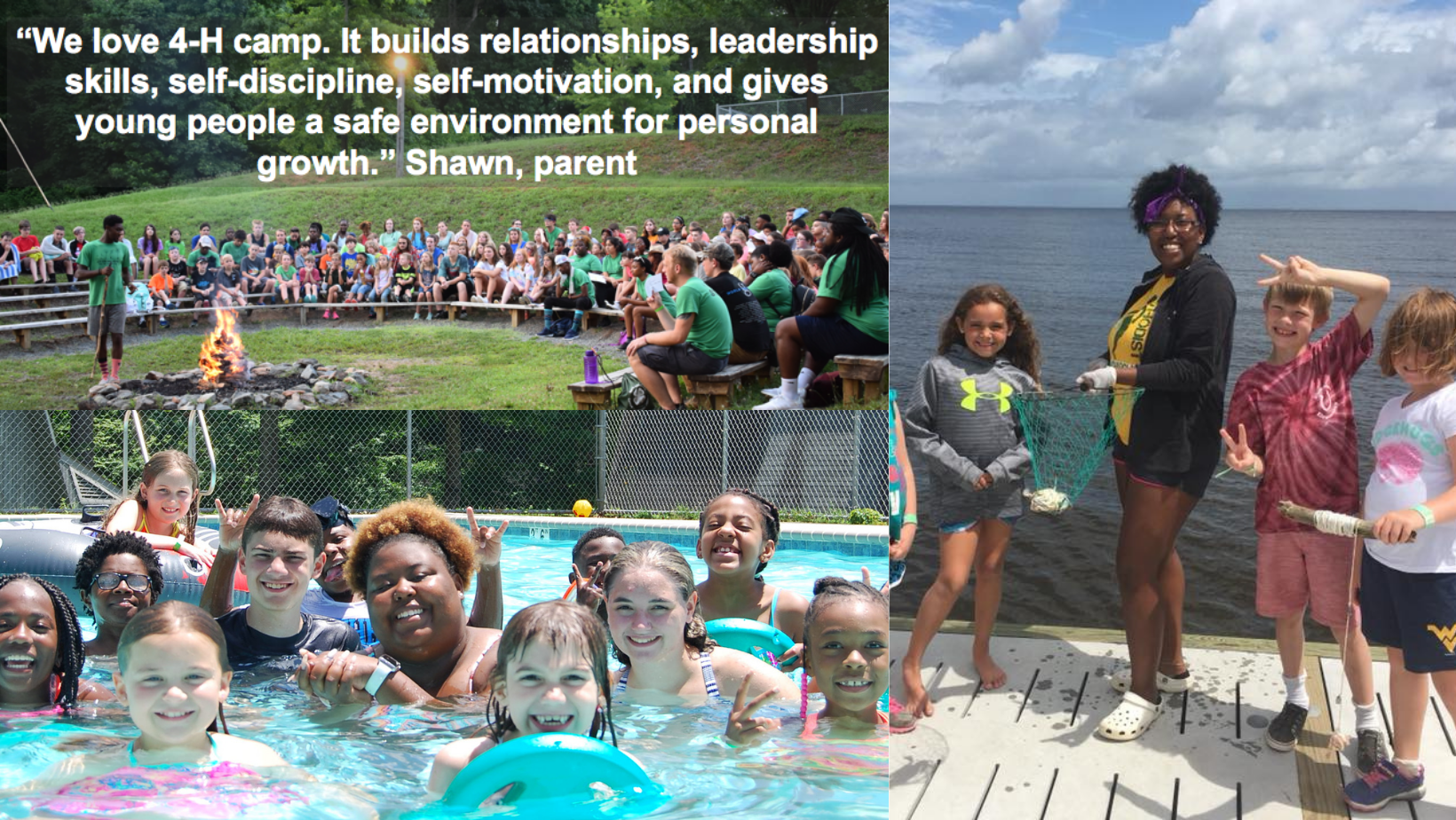 Collection of photos of camp counselors from NC 4-H Camps.