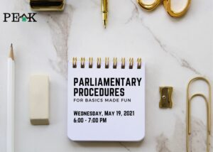 Parliamentary Procedures flyer image