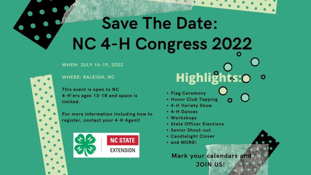 4-H Congress Flyer